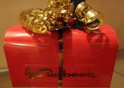 Mooie kerstcadeau doos bonbons