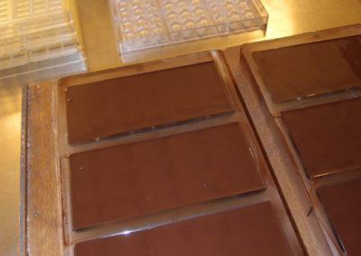 Net gegoten tabletten in de macrolon mal